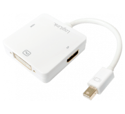 Slika izdelka: Adapter Mini DisplayPort 1.2 v HDMI/DVI/DisplayPort, 3 in 1, LogiLink