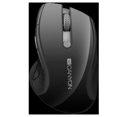 Slika izdelka: CANYON 2.4Ghz wireless mouse, optical tracking - blue LED, 6 buttons, DPI 1000/1200/1600, Black pearl glossy