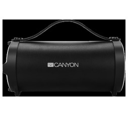 Slika izdelka: Canyon Bluetooth Speaker, BT V4.2, Jieli AC6905A, TF card support, 3.5mm AUX, micro-USB port, 1500mAh polymer battery, Black, cable length 0.6m, 242*118*118mm, 0.834kg