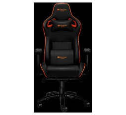 Slika izdelka: Gaming chair, PU leather, Cold molded foam, Metal Frame , Frog mechanism, 90-165 dgree, 4D armrest, Tilt Lock, Class 4 gas lift, metal 5 Stars Base, 60mm PU caster,black+Orange.