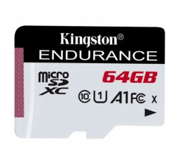 Slika izdelka: KINGSTON High Endurance microSD 64GB Class 10 UHS-I U3 (SDCE/64GB) spominska kartica