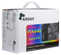 Slika izdelka: Power Supply INTER-TECH Argus RGB, 80PLUS Bronze, 500W, Retail, 1x140 Fan, 1x20+4Pin, 4+4Pin, 1xPCI-e 6+2Pin, 4x4Pin