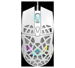 Slika izdelka: Puncher GM-20 High-end Gaming Mouse with 7 programmable buttons, Pixart 3360 optical sensor, 6 levels of DPI and up to 12000, 10 million times key life, 1.65m Ultraweave cable, Low friction with PTFE feet and colorful RGB lights, white, size:126x67.5x39.5mm, 110g
