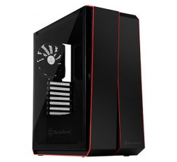 Slika izdelka: SilverStone REDLINE RL07 Midi Tower ATX Gaming Computer Case, Silent High Airflow Performance,  Full Tempered Glass, black